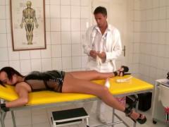 Linet gets punished by doctor in bondage session