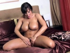 Lisa Ann with gigantic boobs and hairless snatch has toy-hungry vagina