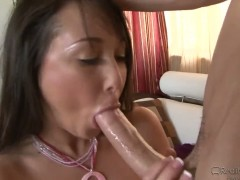 Criss Strokes gets a blowjob from asian babe Jesse Jordan